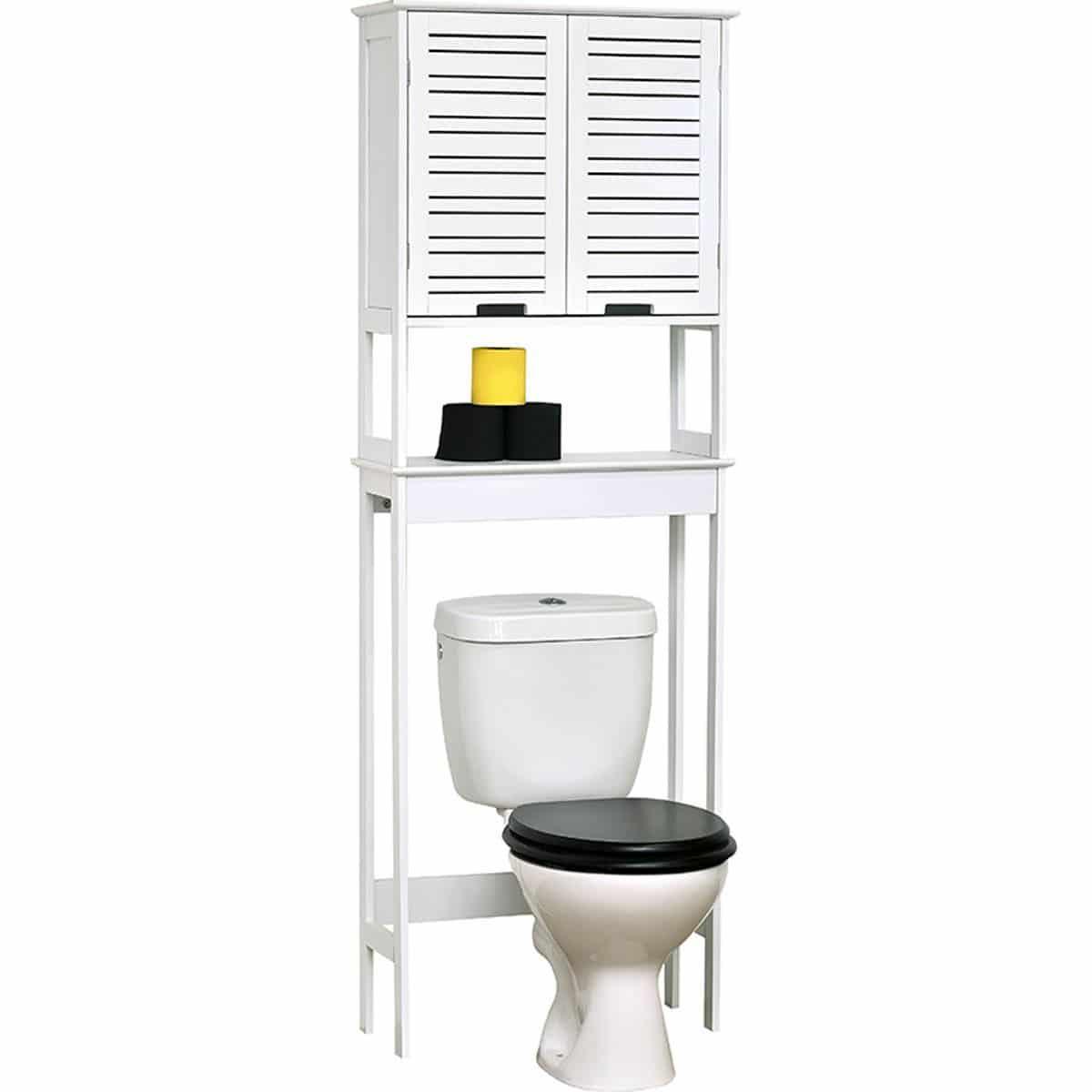 MDF Toiletombouw Miami 2 deuren en 1 legplank 63x23x179 cm -Wit