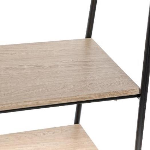 4goodz industrieel kledingrek / kapstok 95x46x164 cm - zwart/bruin