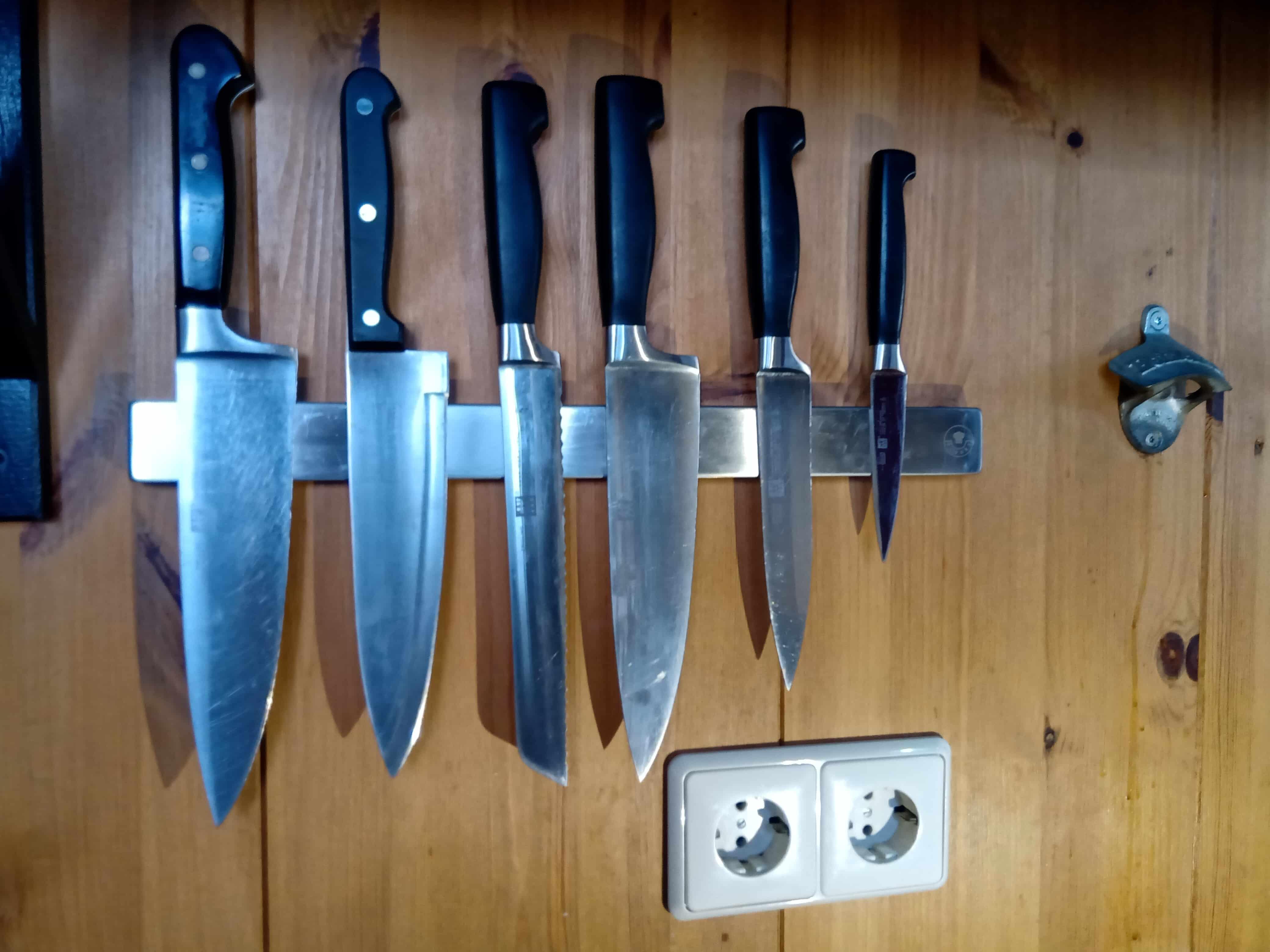 4cookz® Messenhouder Magnetisch - Magneetstrip voor messen 40cm - Zilver