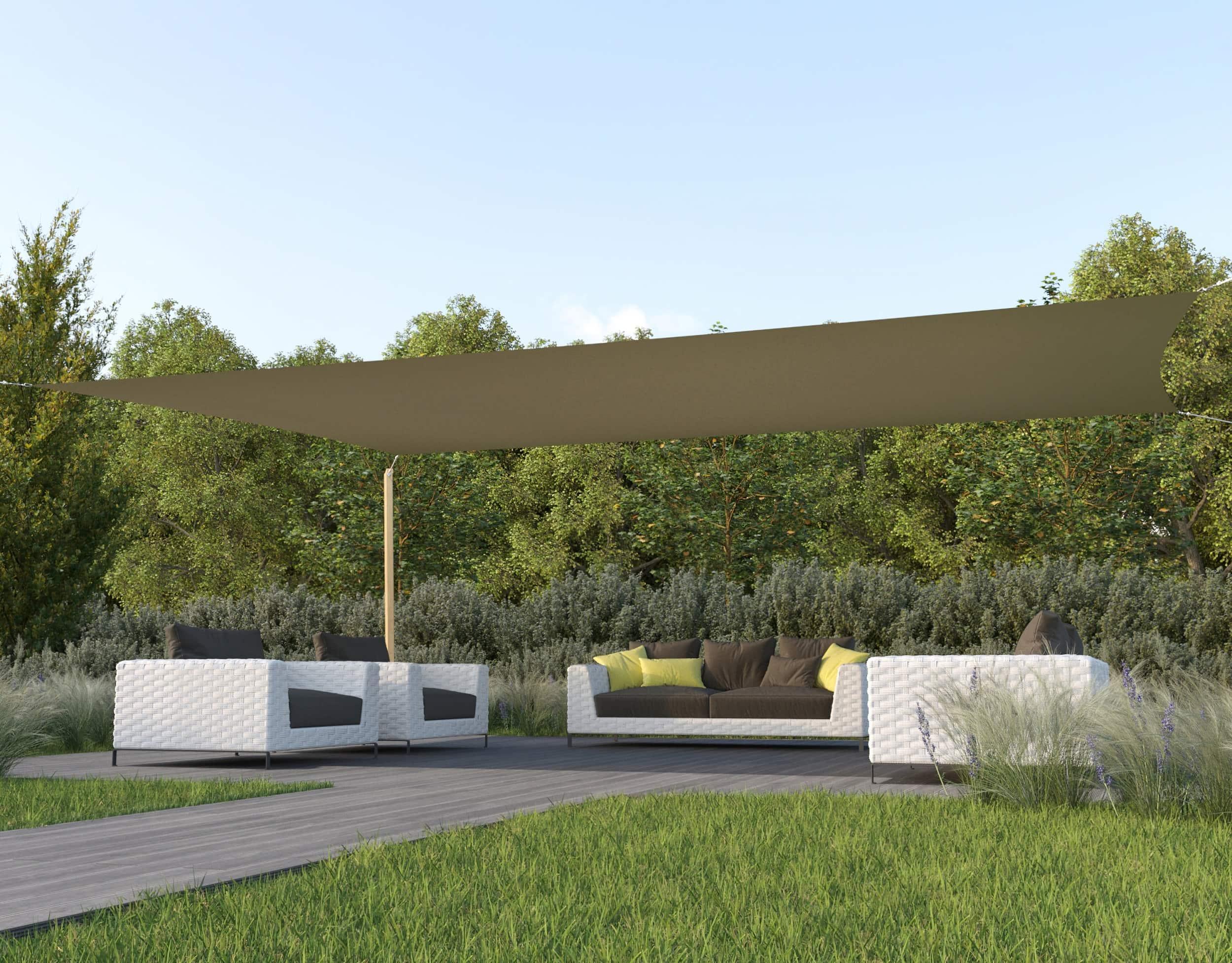 hanSe® Schaduwdoek Rechthoek Waterdicht 5x6 m - zonnedoek - Zand