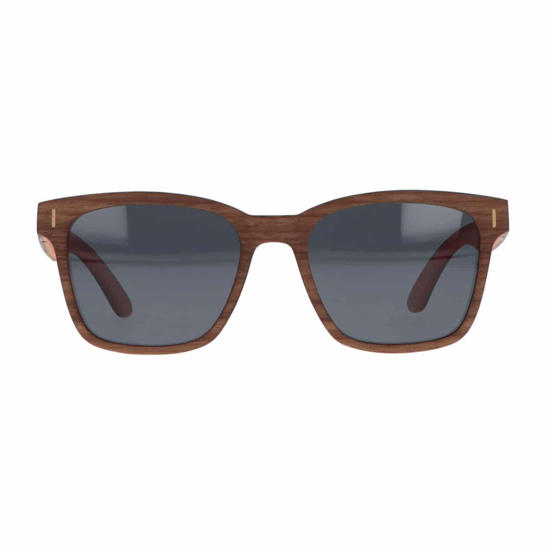 5one® Slim Line Walnut Grey - Walnoot hout Wayfarer zonnebril - grijs