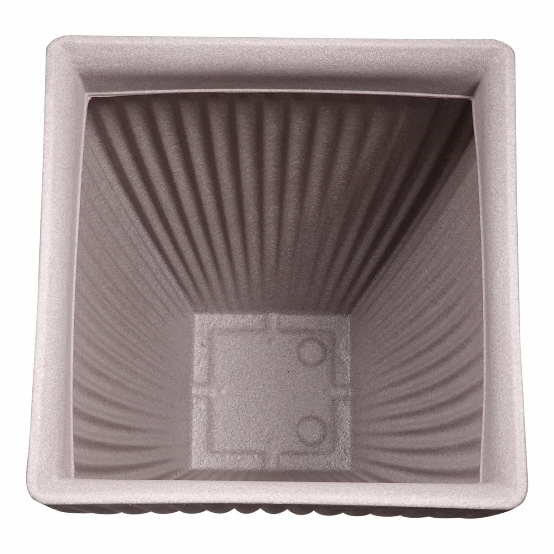 4goodz Bloempot Vierkant voor buiten Milaan hoog - 40x40x60 cm - Taupe