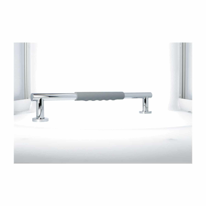 Luzzo® Fisso Soft Handgreep Badkamer/Toiletgreep 45 cm - Chroom/Grijs