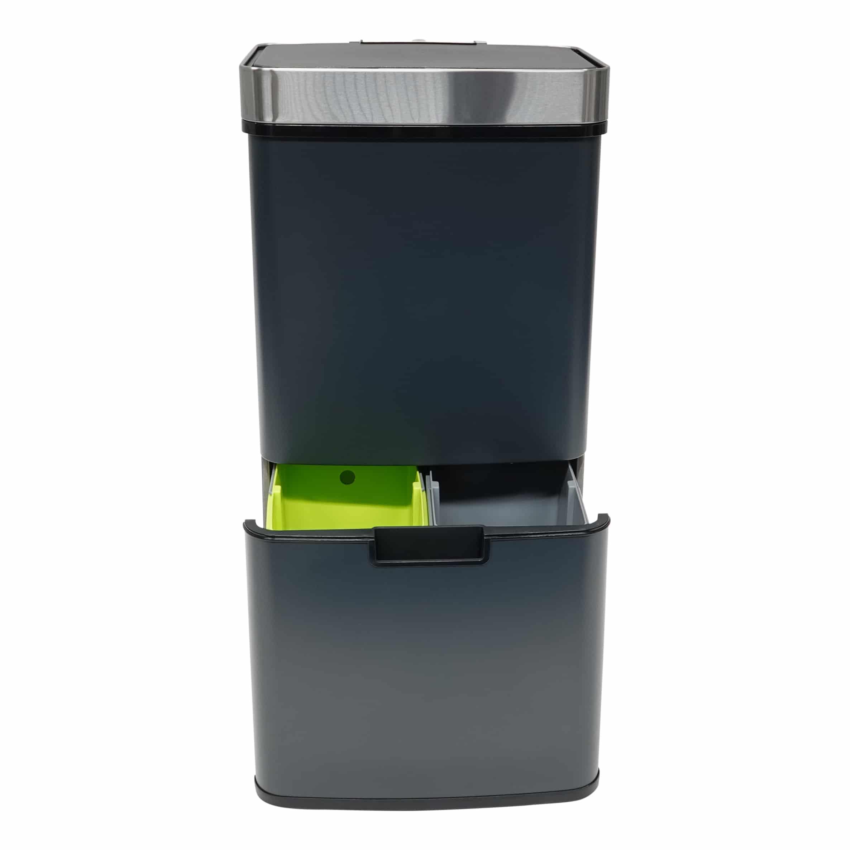 4cookz® Smart Waste Grey Afvalscheidingsprullenbak met sensor 72 liter