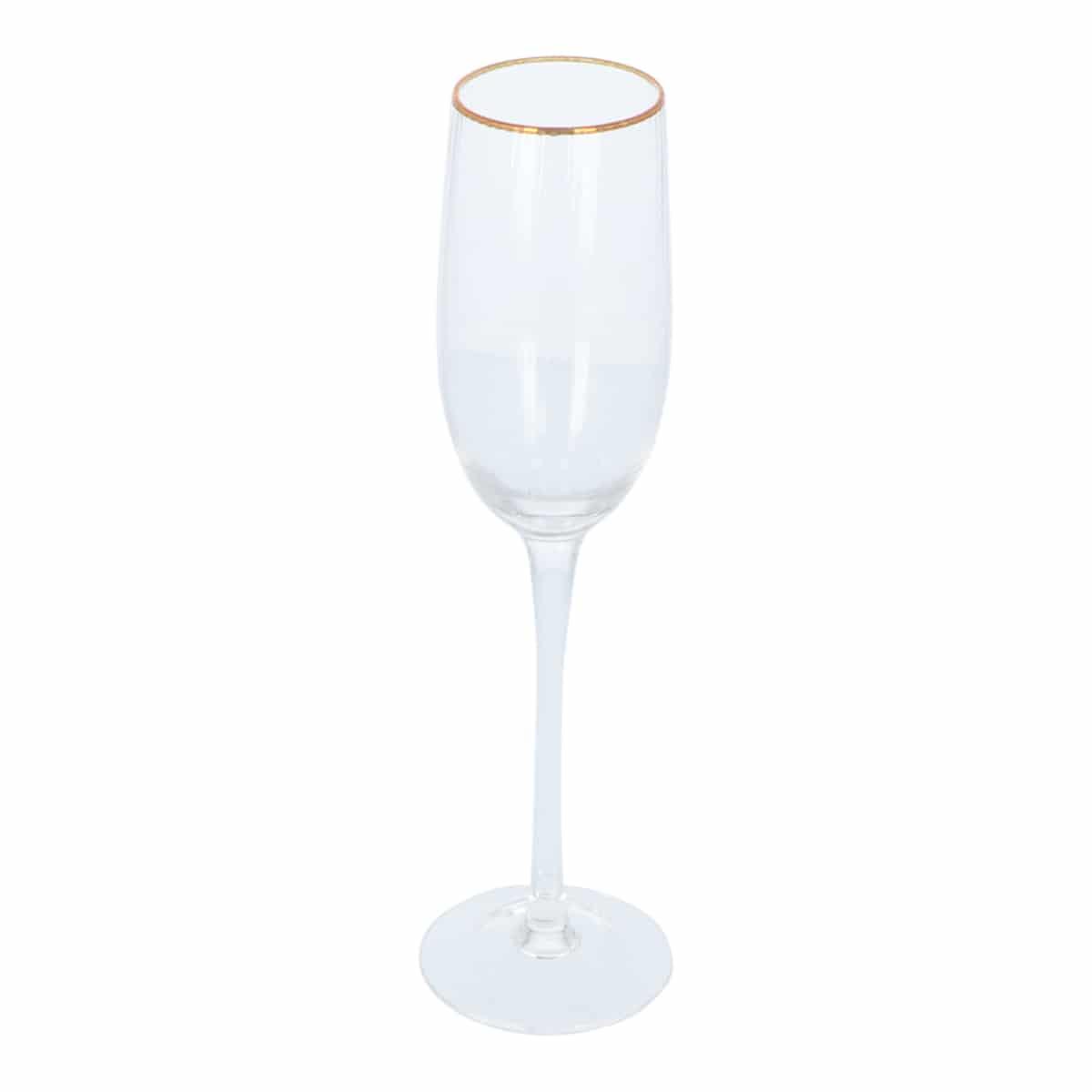 4goodz Petit Salon Champagne Flutes 6 stuks inh. 21 cl met Gouden rand