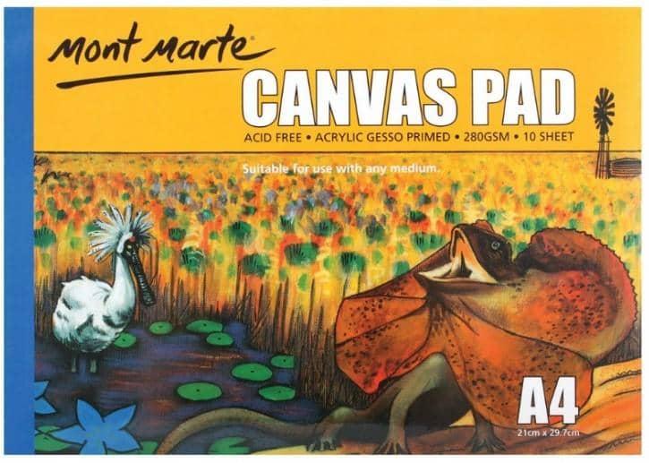 Mont Marte® Canvas blok 10st A4 - 280 grams papier - schetsboek