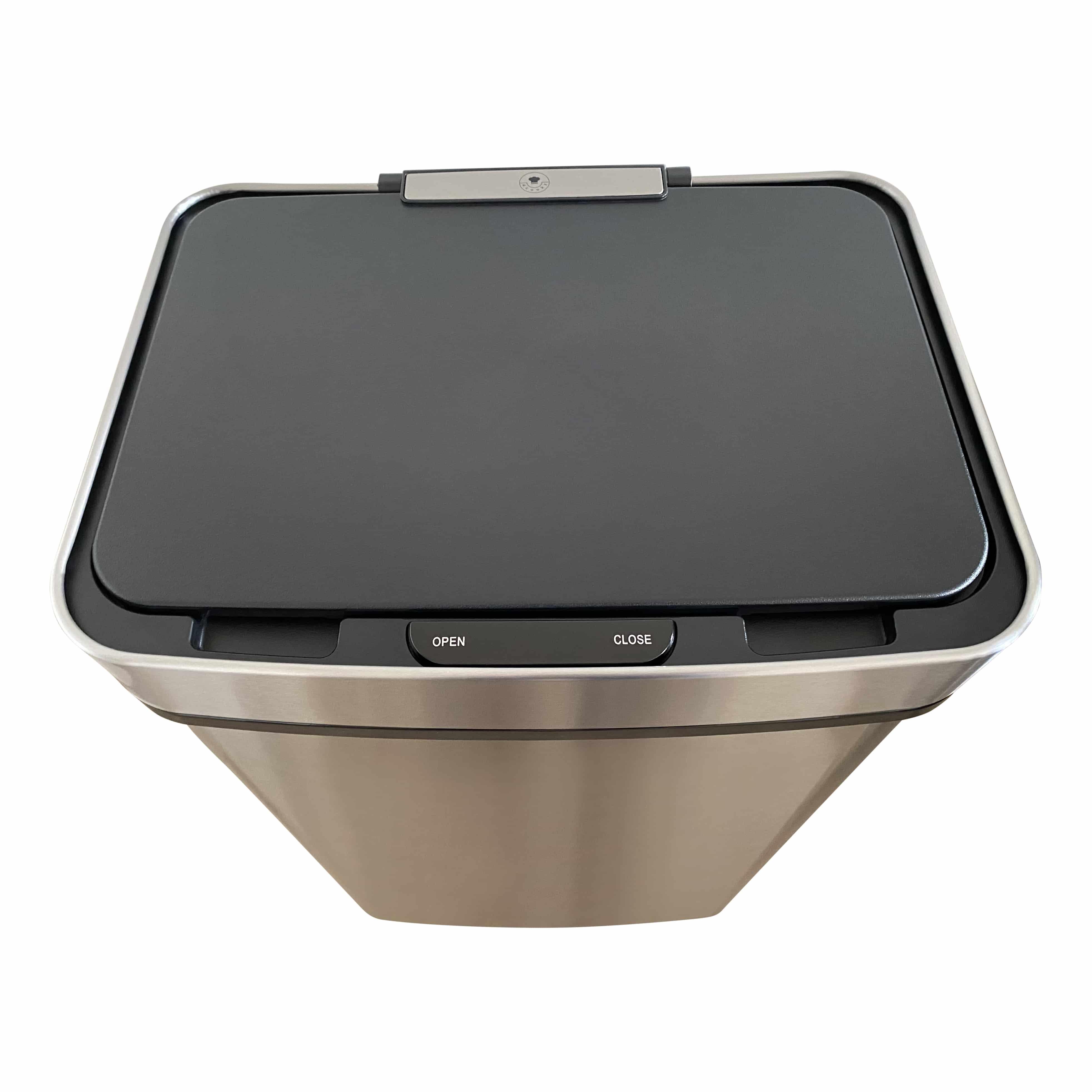 4cookz® prullenbak 60 liter - prullenbak met sensor – geborsteld RVS