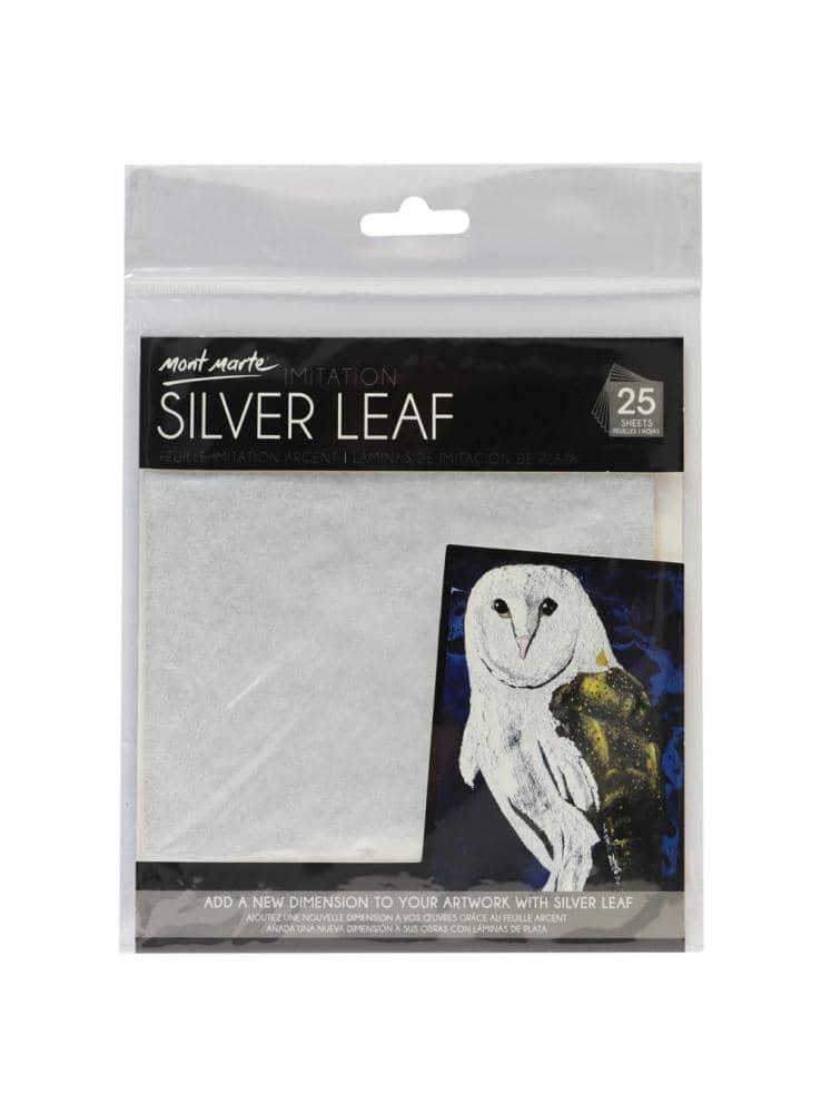 Mont Marte® 25 vellen imitatie zilver papier 14x14cm - decoupage papier