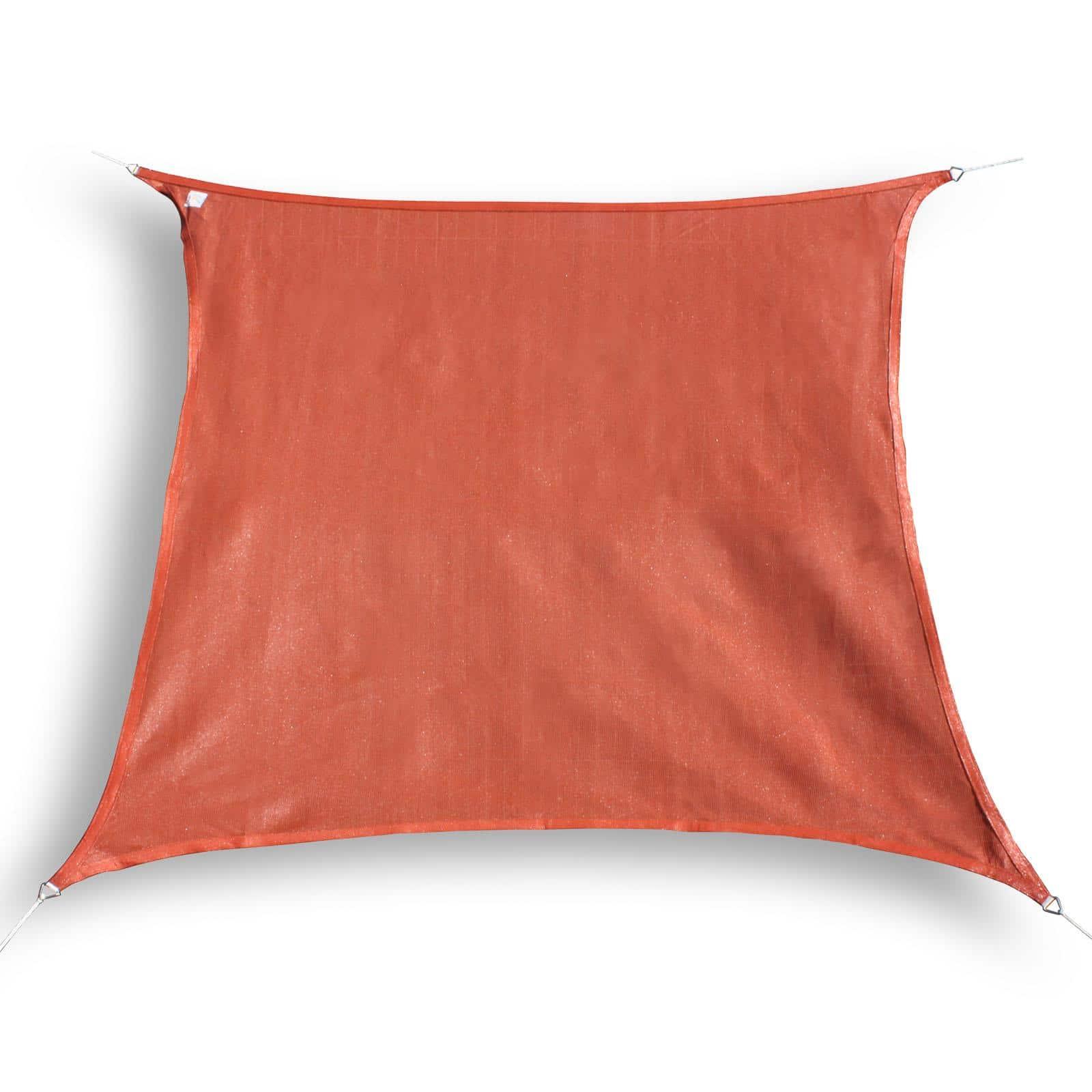 hanSe® Schaduwdoek Vierkant Waterdoorlatend 7x7 m - zonnedoek - Terra