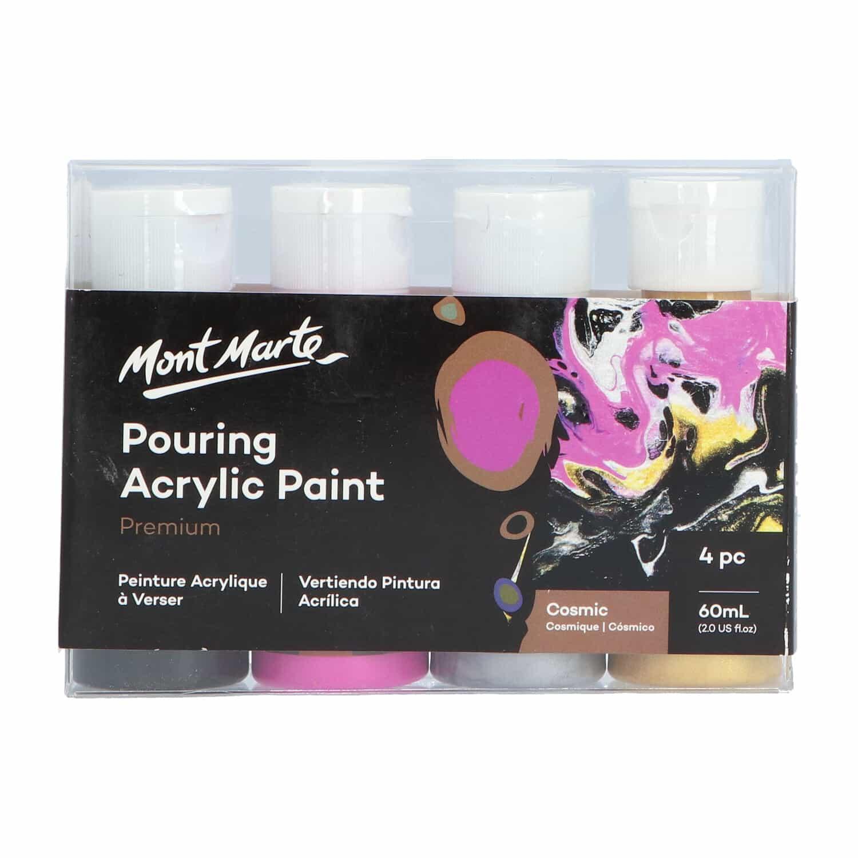 Mont Marte® Pouring Paint Cosmic - 4 potjes pouringverf a 60 ml