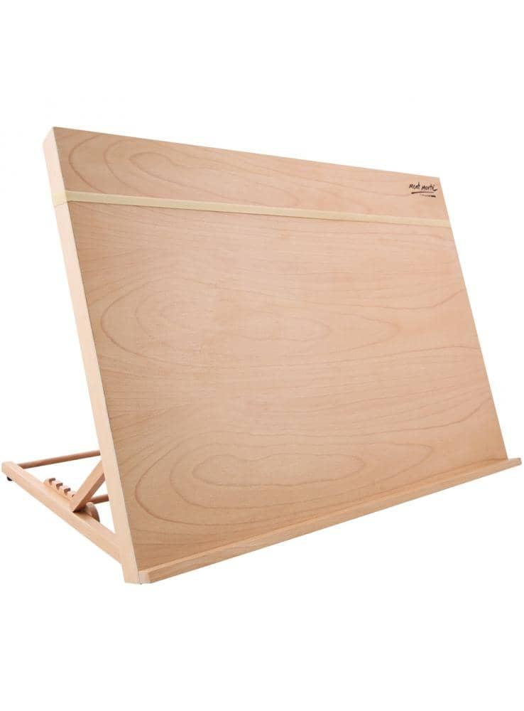 Mont Marte® schetsbord A3 met elastisch band - houten tekenbord