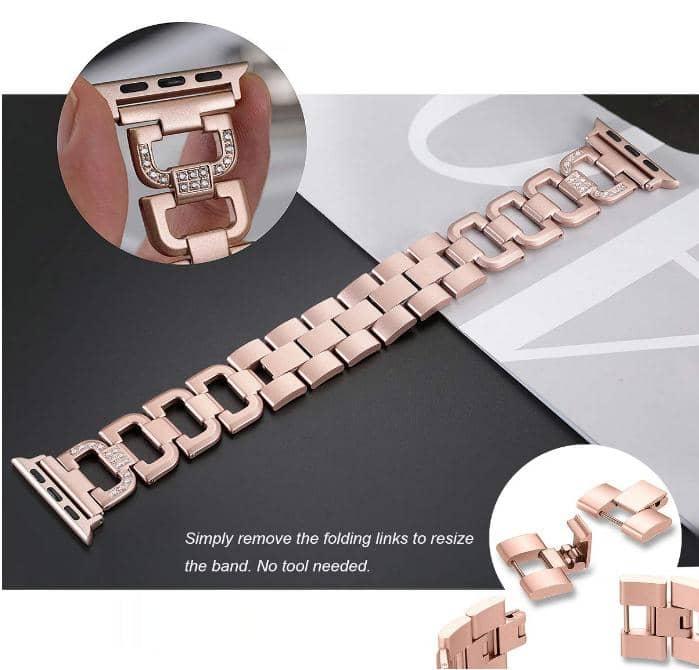 4mobilez Iwatch bandjes 2x Rosegold metaal 38/40 mm - Iwatch 1/2/3/4/5