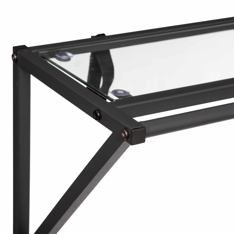 4goodz vrijstaand industrieel kledingrek / kapstok 80x38x160cm - zwart