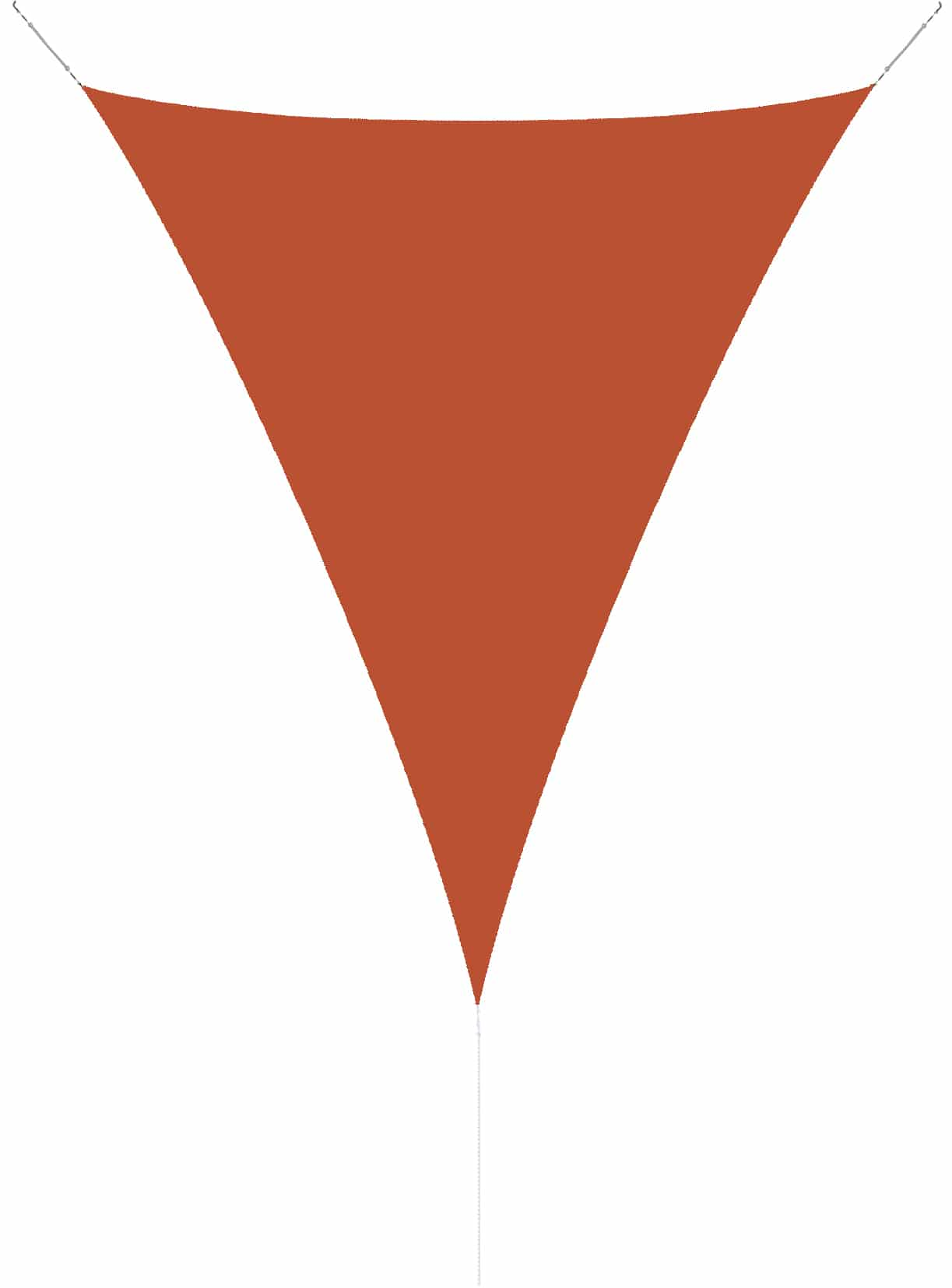 hanSe® Schaduwdoek Driehoek Waterdoorlatend 5x7x7 m - zonnedoek Terra
