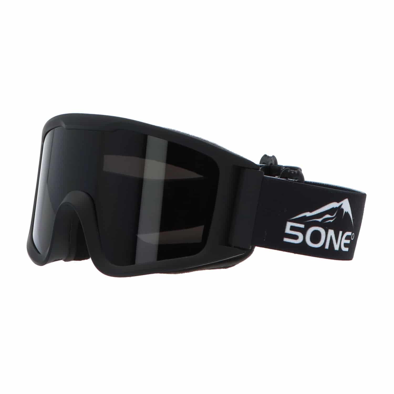 5one® Alpine 4 Black Skibril met anti-condens en bewaarcase - UV 400