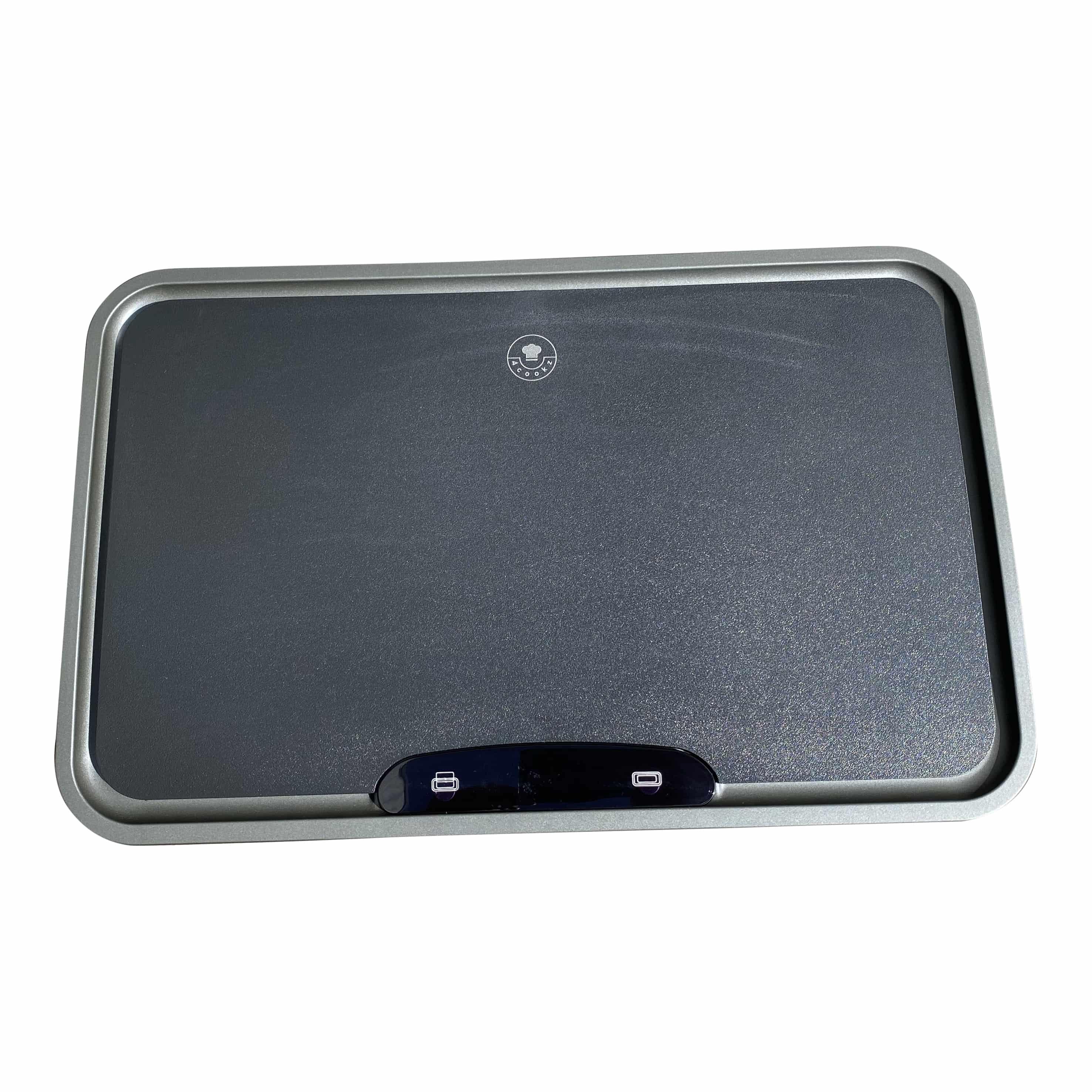 4cookz® Iowa Duo sensor afvalscheidingsprullenbak 2x 22 L - mat Grijs