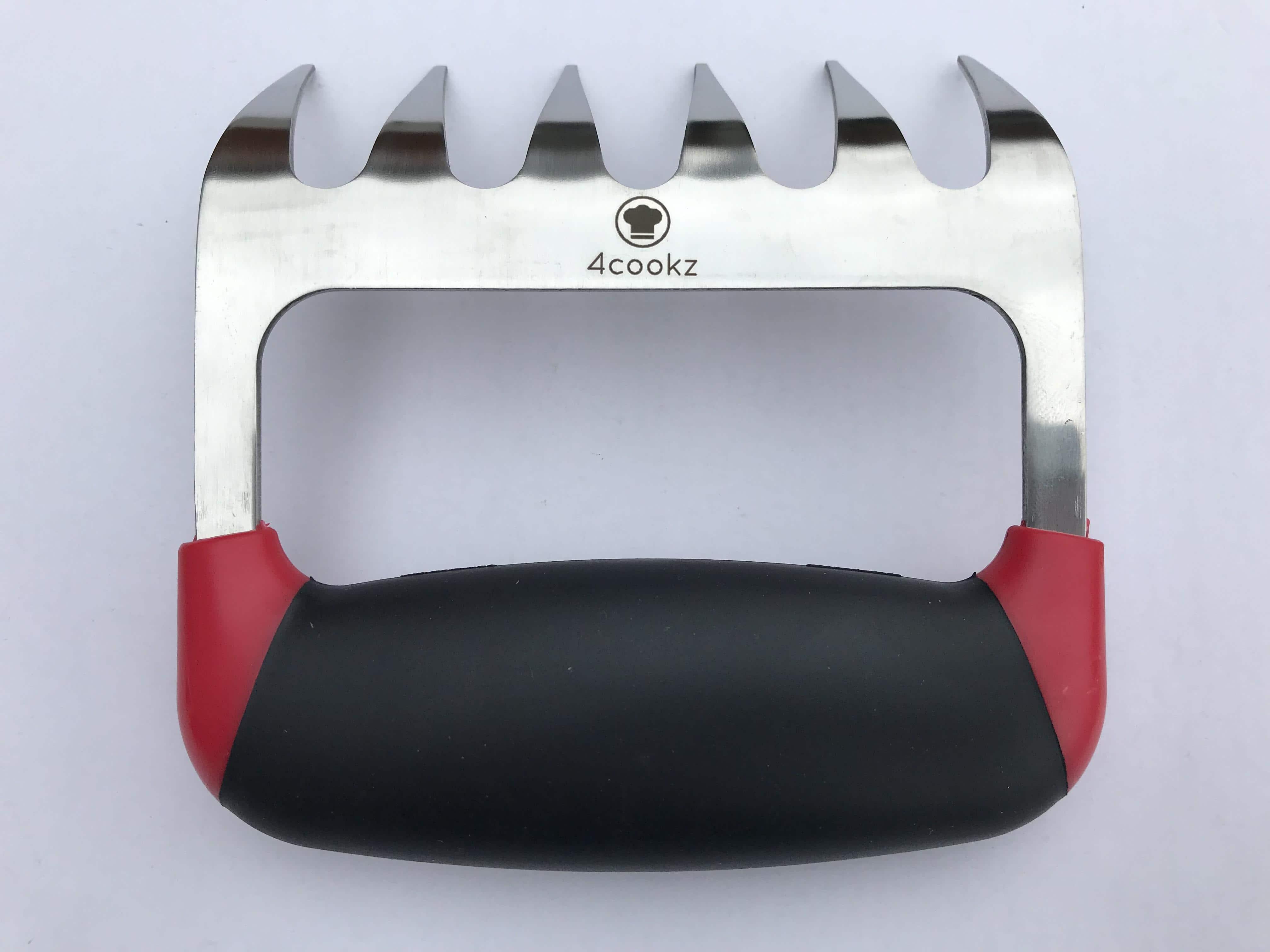 4cookz® metalen vleesklauwen met siliconen handgreep - pulled pork
