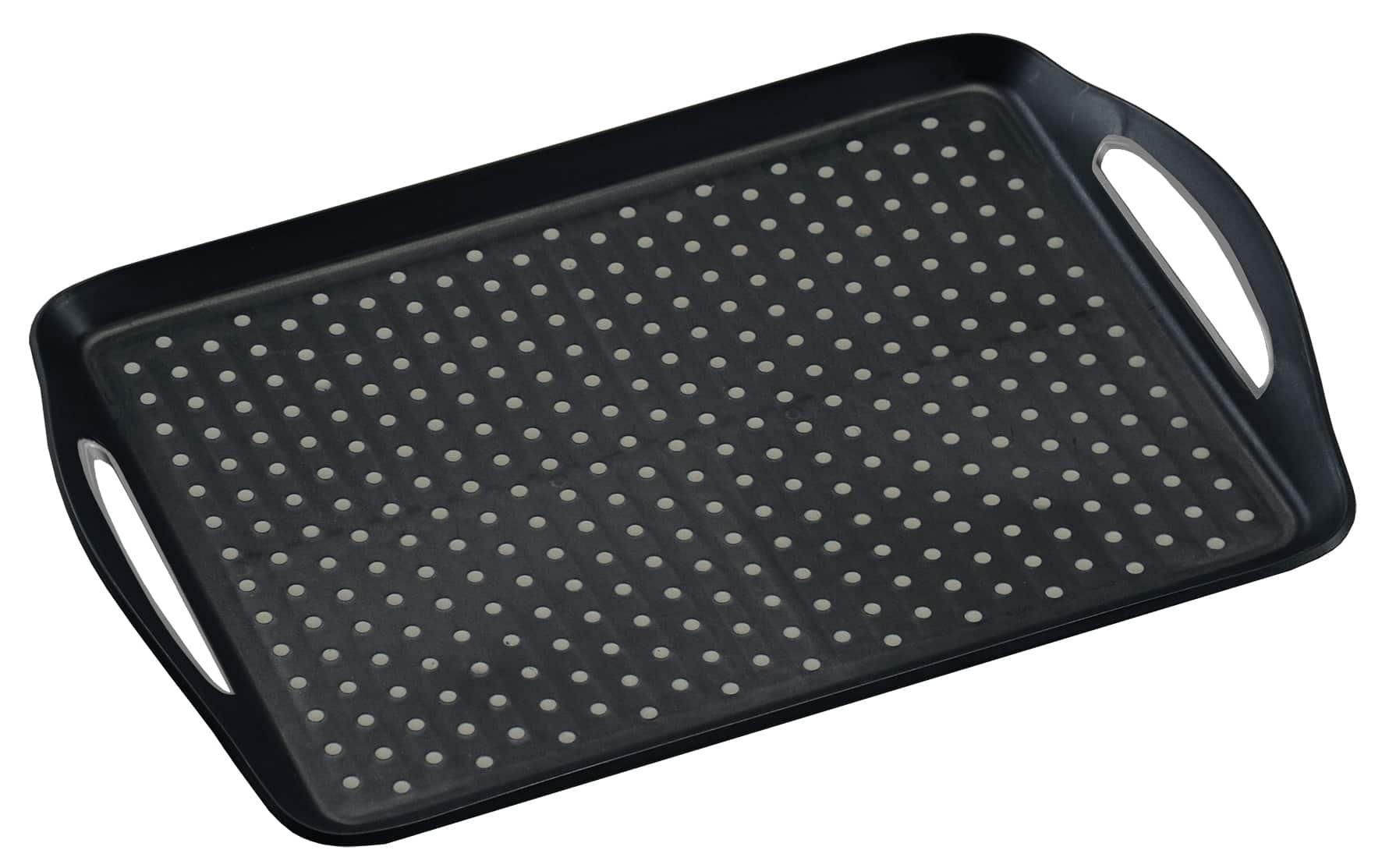Anti-slip dienblad 45,5x32x4,5 cm - Dienblad Rechthoek - Zwart