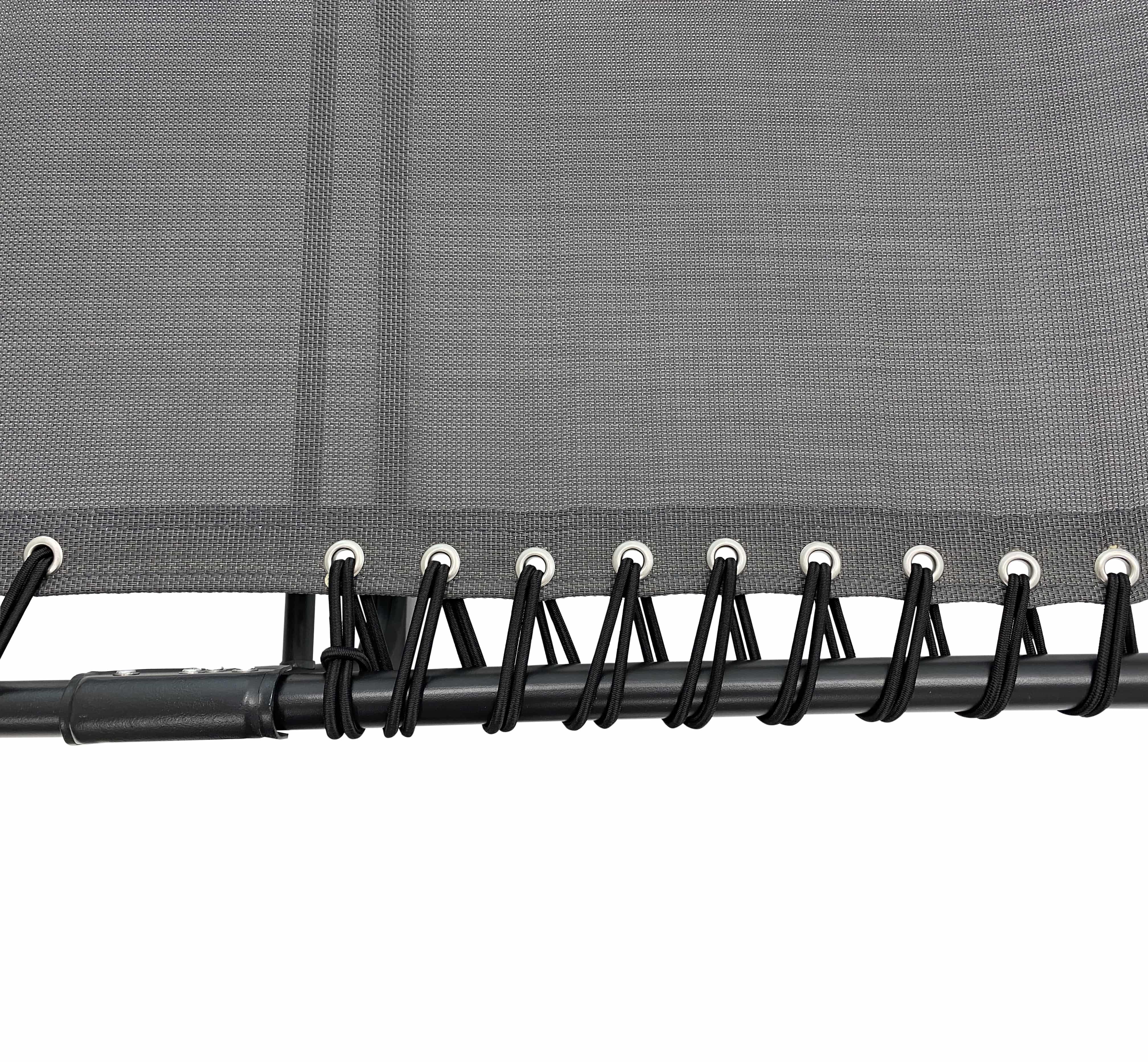 4gardenz® Comfortabel Ventilerend Opvouw Ligbed 190x57x28 cm - Grijs