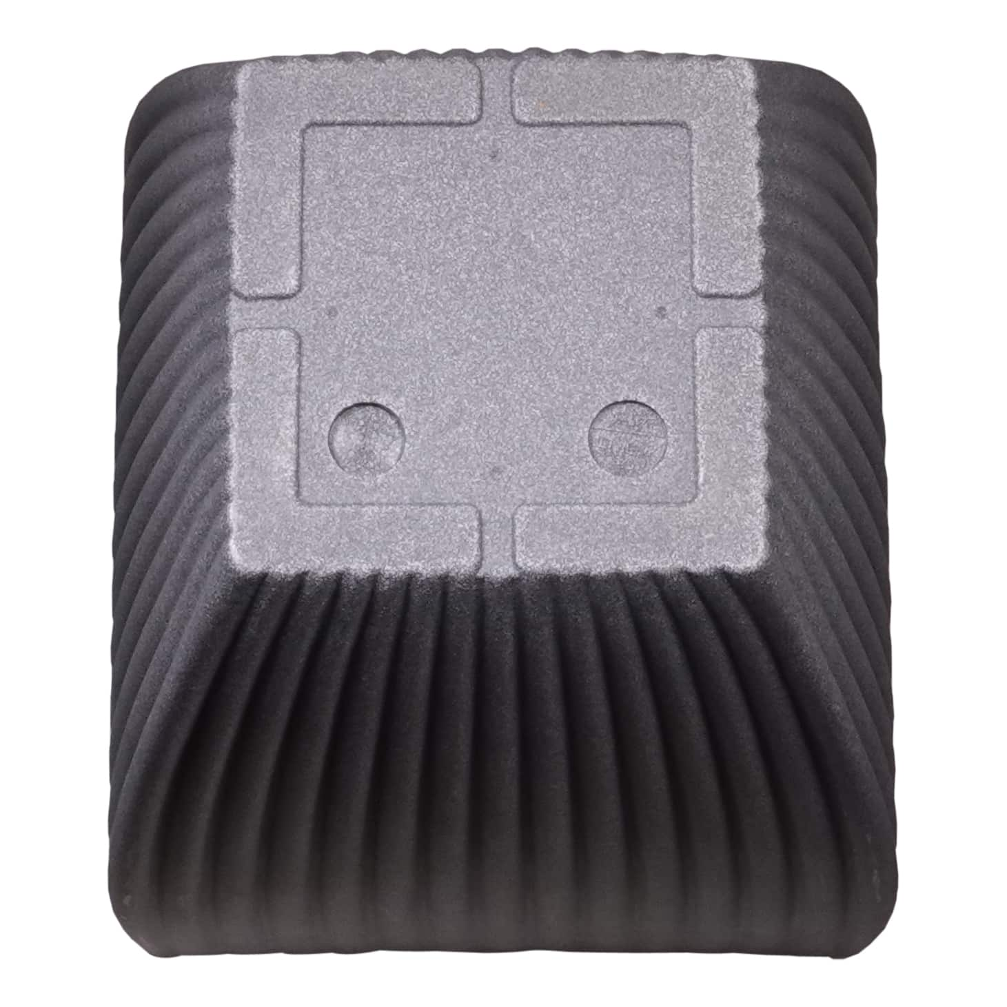 4goodz Bloempot Vierkant voor buiten Milaan hoog - 40x40x60 cm - Grijs