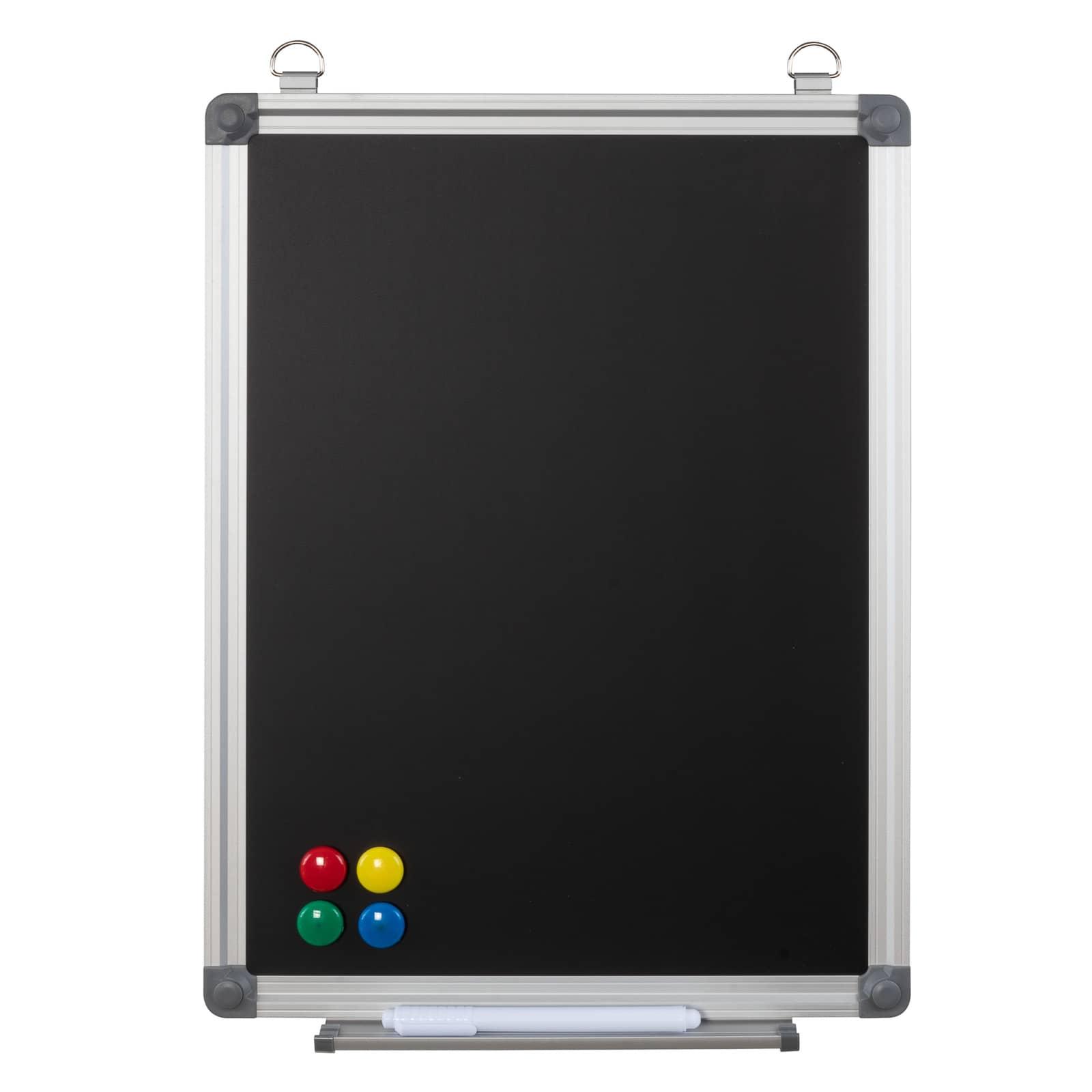 Büromi Magnetisch Zwart Krijtbord 40x30 cm Alu frame - incl. toehoren