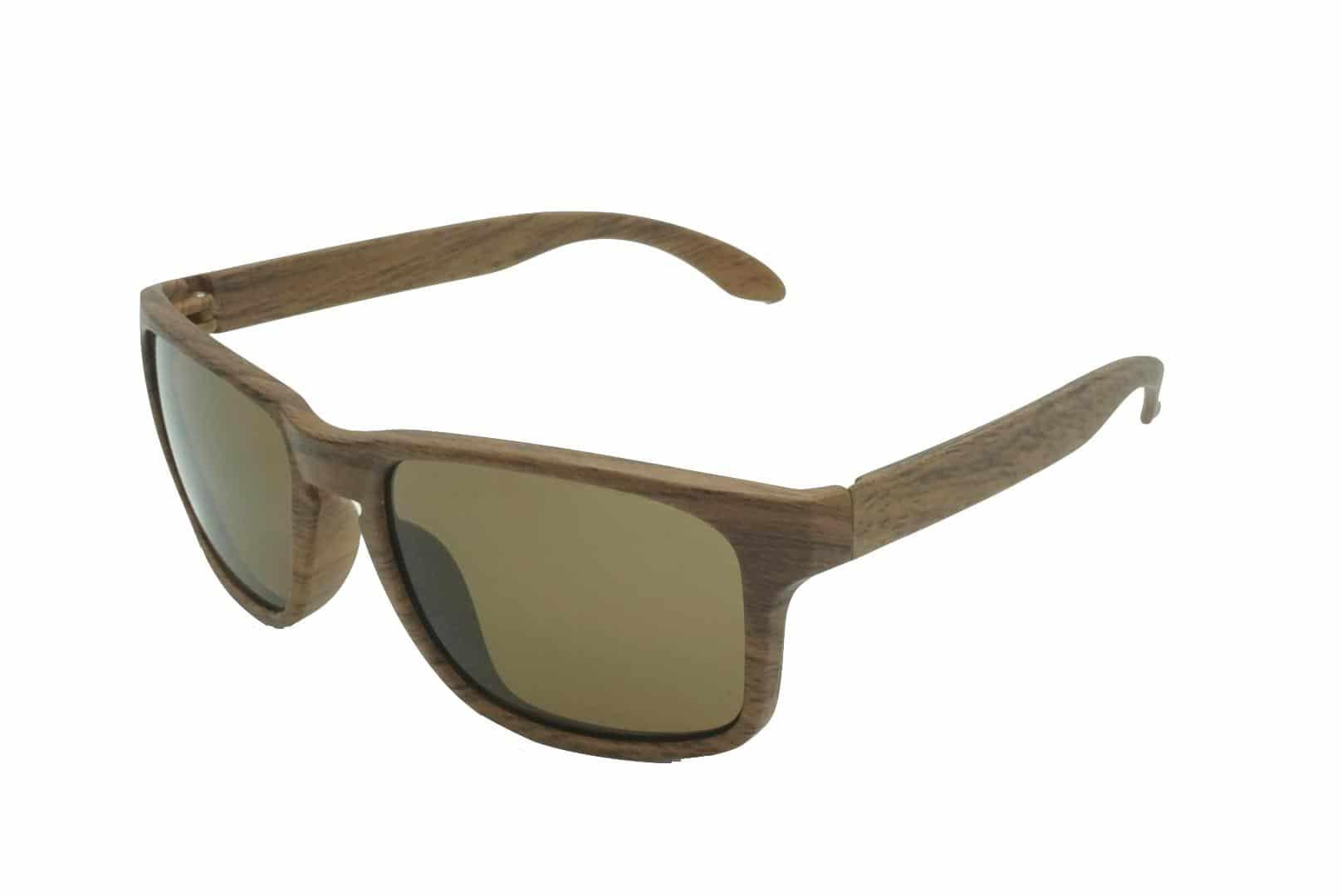 4Goodz Nice brown - houtlook wayfarer zonnebril - Bruin - Uv400