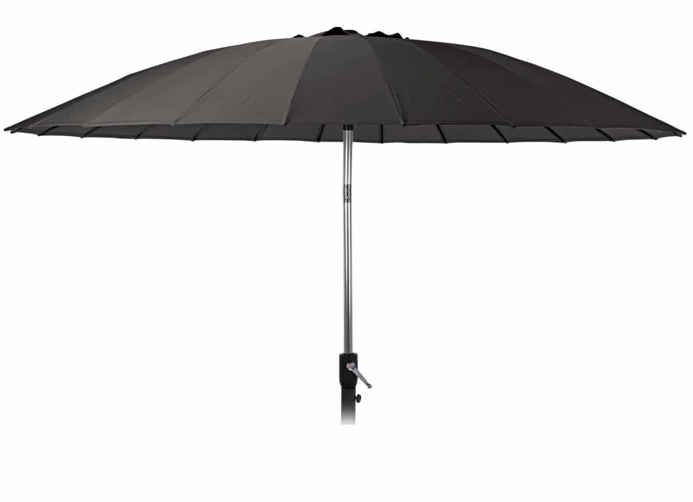 4goodz Aluminium Shanghai Parasol 270 cm met opdraaimechanisme - Zwart