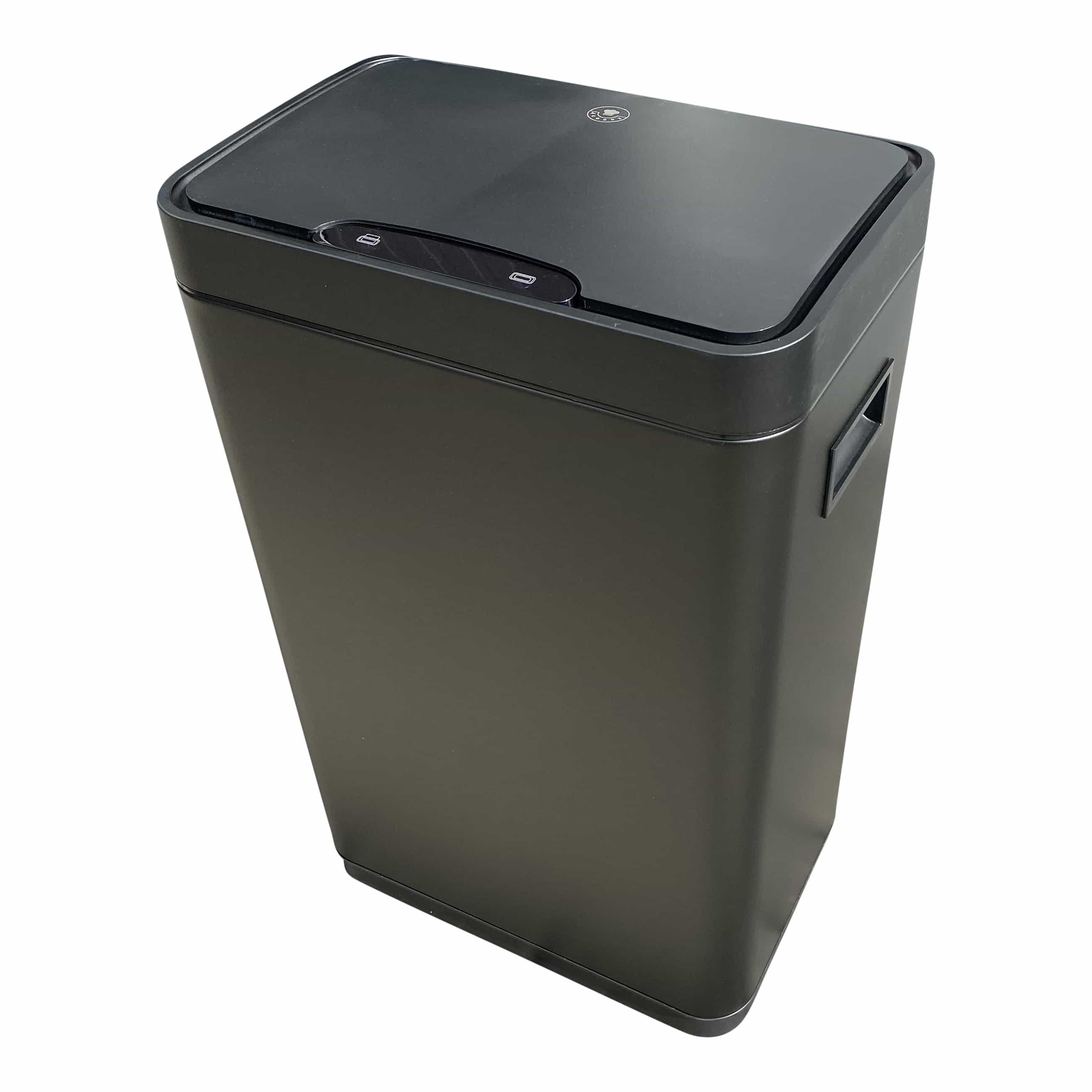 4cookz® Iowa Matt Stainless sensor prullenbak - 50 Liter - mat Zwart