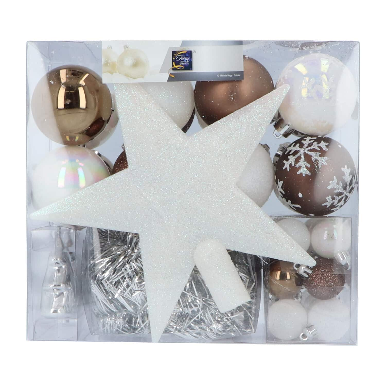 4goodz 44-delige decoratieve kerstballen Champagne - binnen en buiten