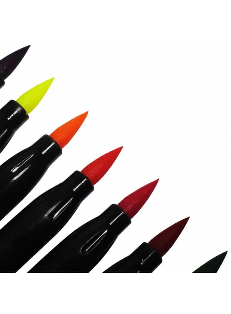 Mont Marte® penseelstiften set 12 stuks - gevulde waterbrush stiften