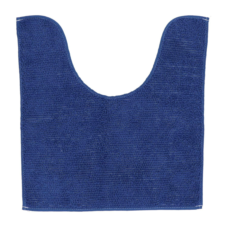 4goodz comfortabele Toiletmat polyester 45x50 cm - navy blauw