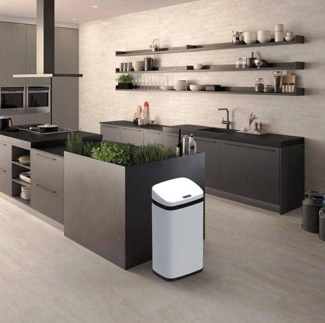 4cookz® Clever Square White sensor prullenbak - 30 liter - wit