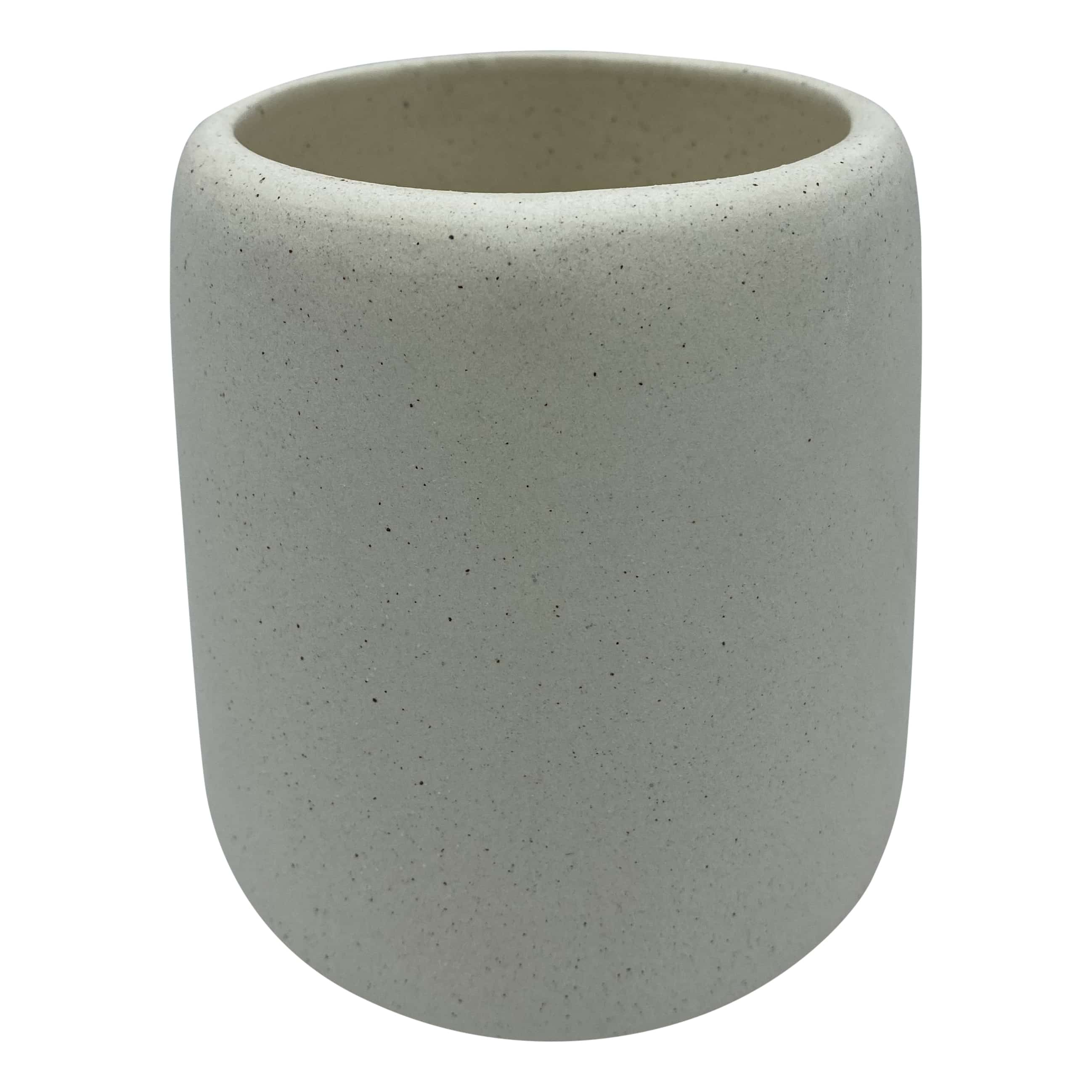 4goodz toiletborstel keramiek mat naturel met zwarte spikkels