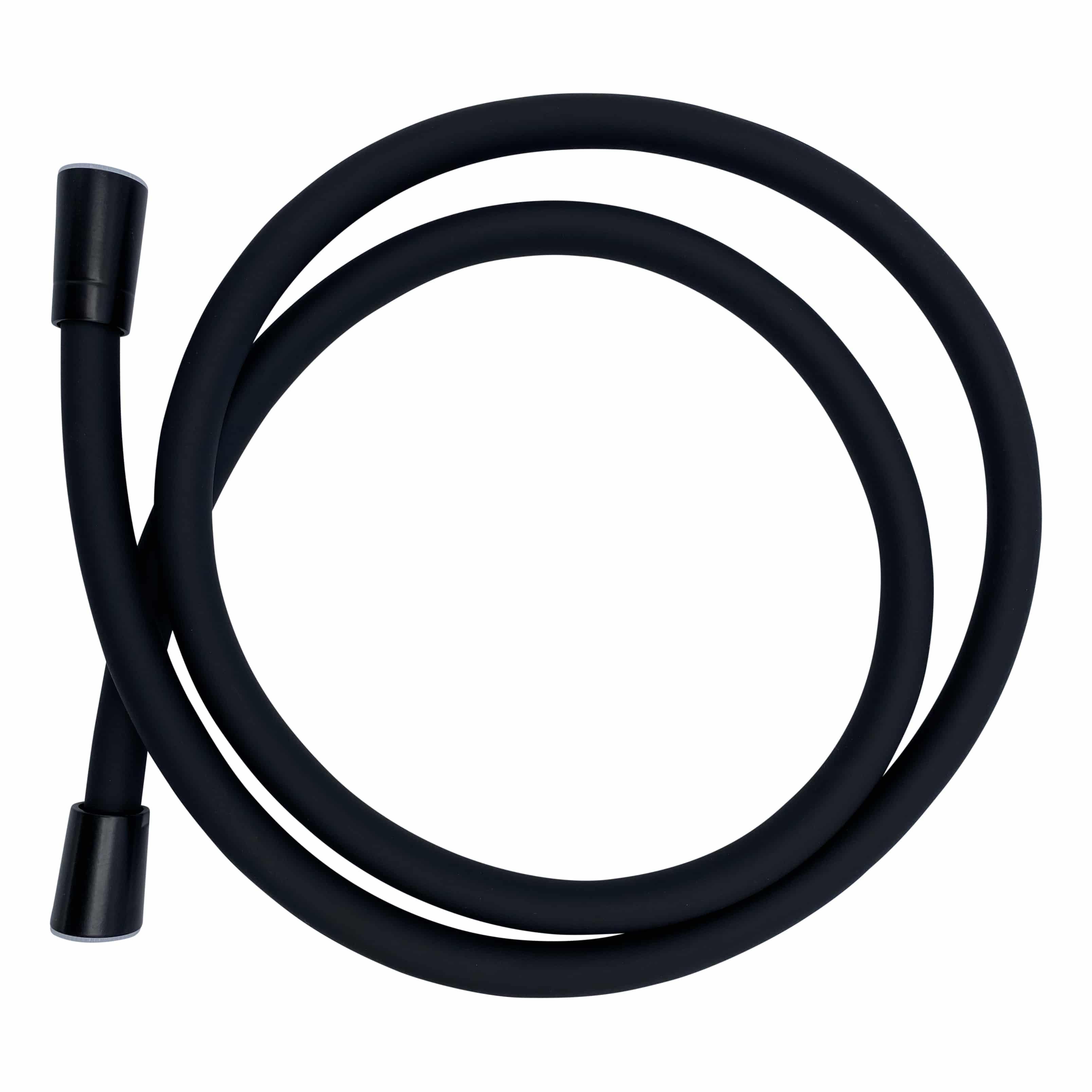 4bathroomz Flower Design doucheset - douchekop slang en klem - zwart