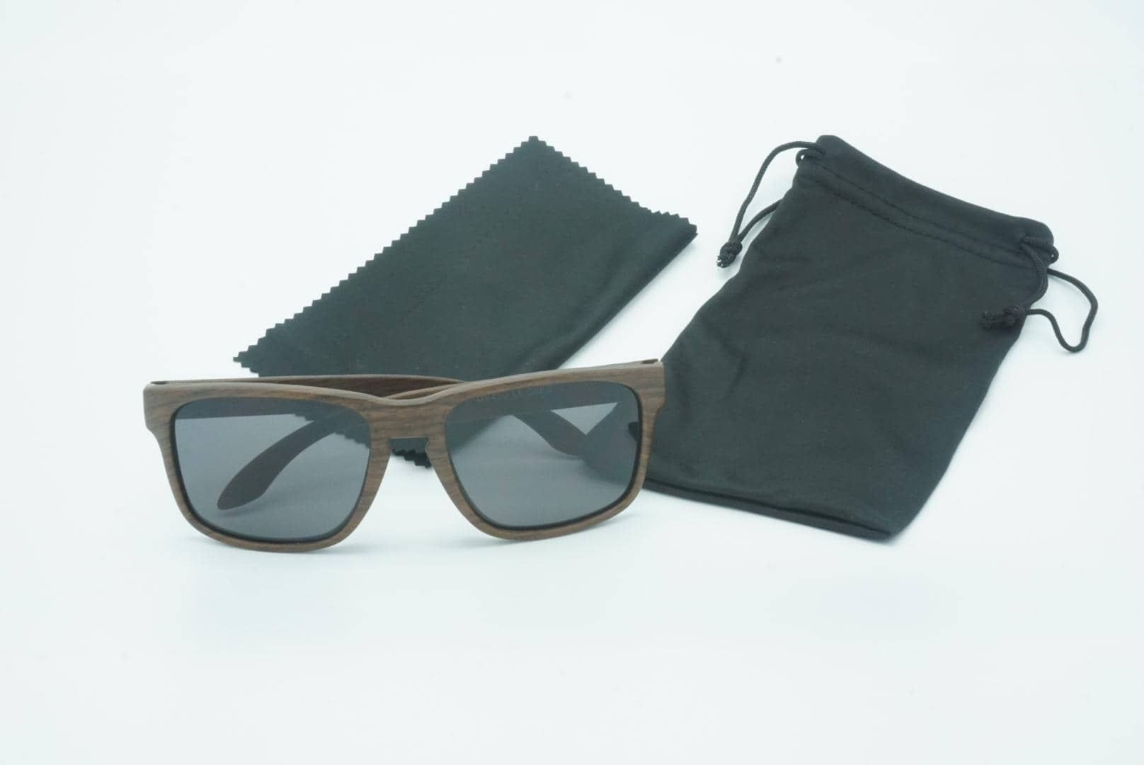 4goodz Barcelona grey - houtlook wayfarer zonnebril - grijs - Uv400