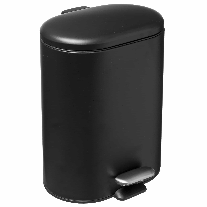 4goodz Pedaalemmer Ovaal 6 liter met uitneembare binnen emmer - Zwart