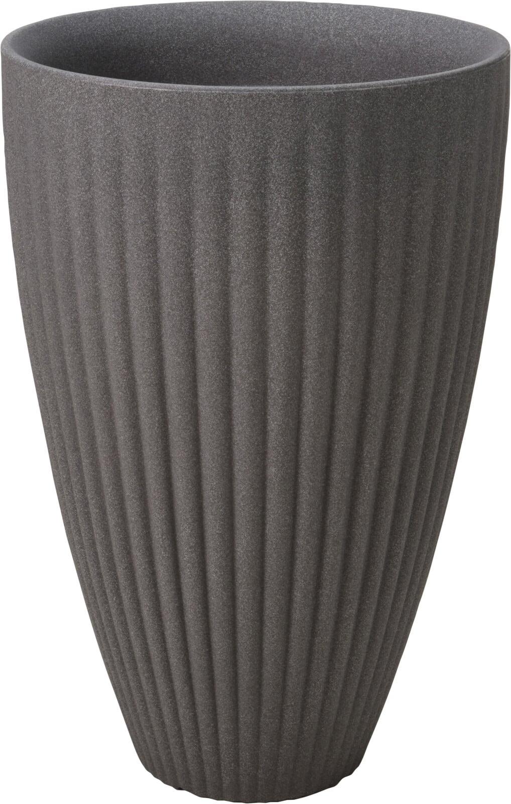 4Goodz Bloempot Rond voor buiten Rome hoog - 40x60 cm - Grijs