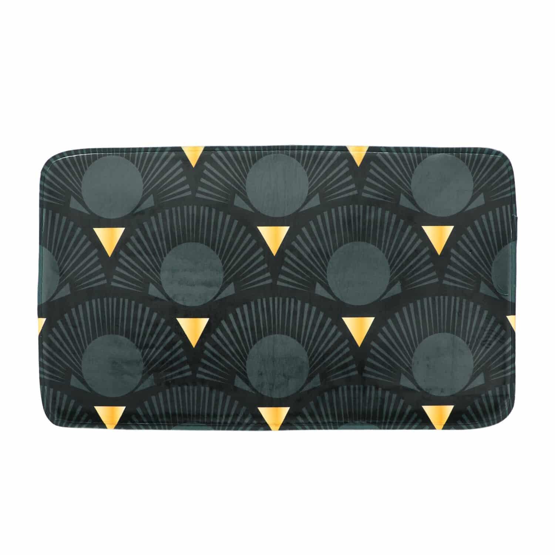 4goodz Ginko Microvezel Badmat met Ginko print 45x75 cm - Zwart