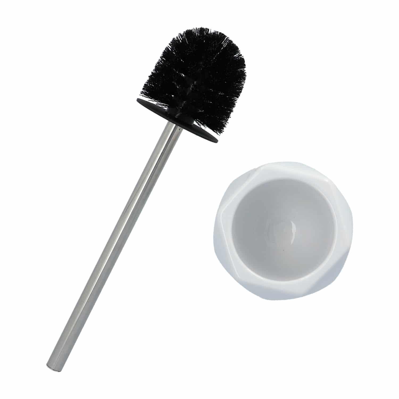 4goodz Diamond keramische toiletborstel - Wit