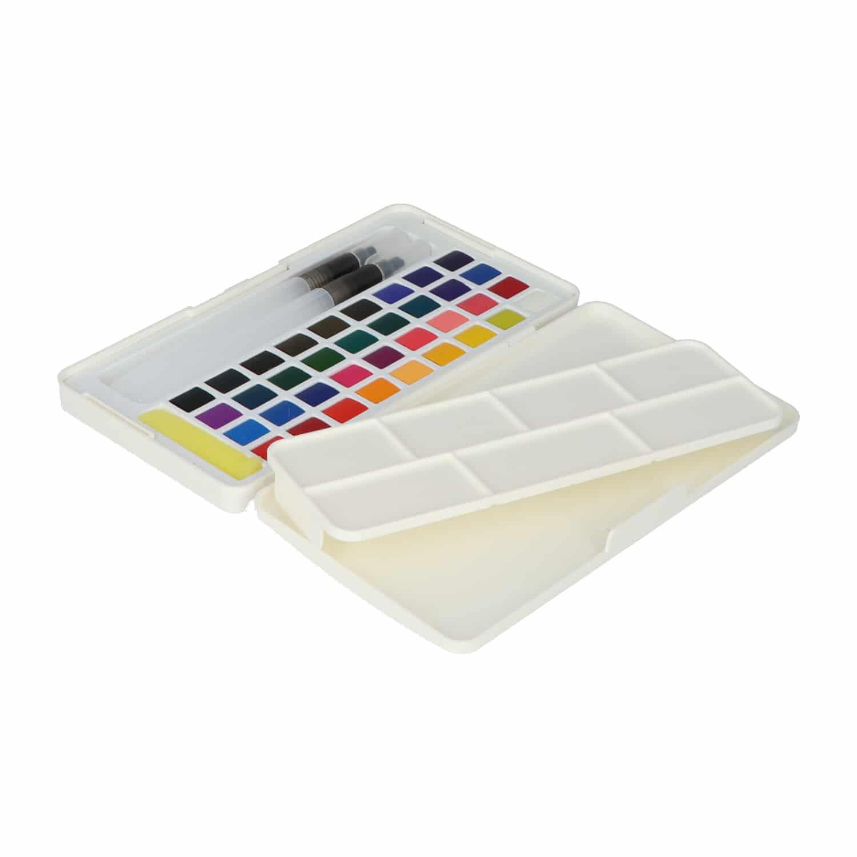 4artz® 42-delige Aquarelverf / waterverf set incl. waterbrush penselen