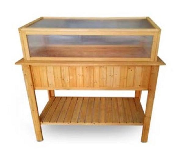 4goodz houten Kweekkas / moestuin tafel op poten - 113x57x90cm