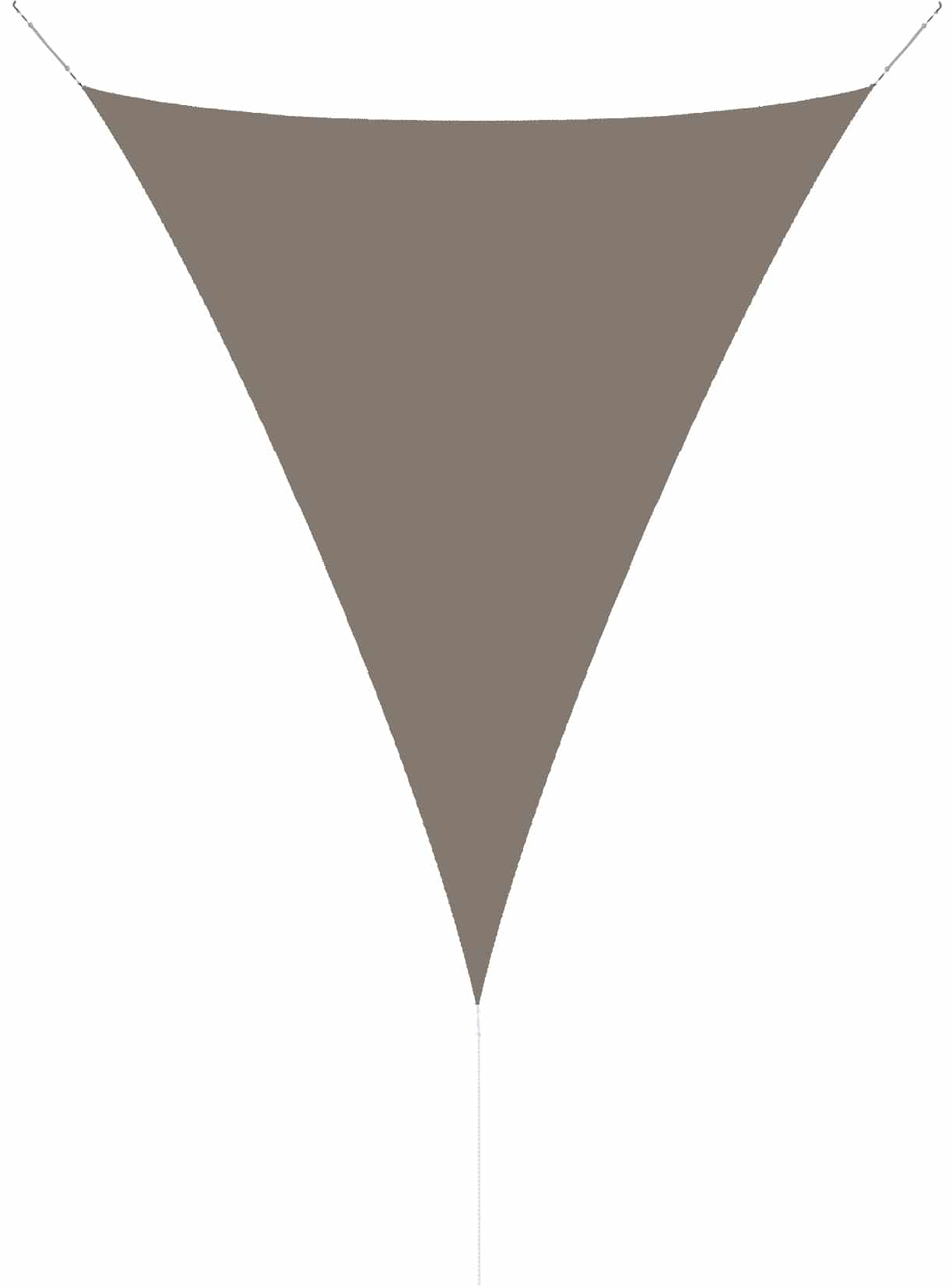 hanSe® Schaduwdoek Driehoek Waterdoorlatend 3x4x4 m - zonnedoek Taupe