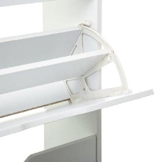 4goodz schoenenkast 3 lades 60x24x118 cm - voor 18 paar - Wit