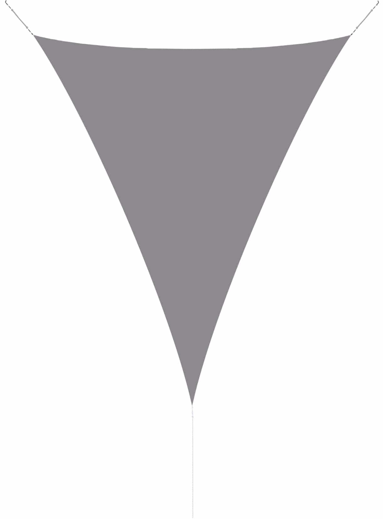 hanSe® Schaduwdoek Driehoek Gelijkbenig Waterdoorlatend 2,5x2,5x3,5 m - Grijs
