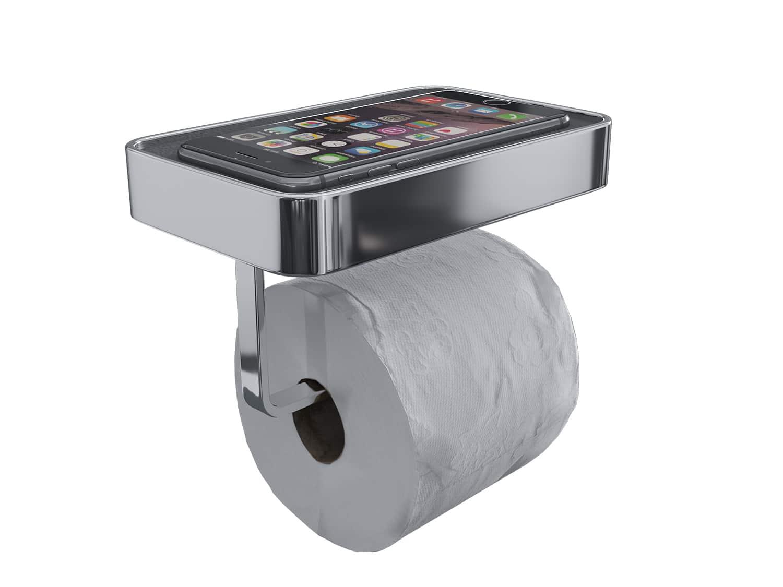 Luzzo® Piazzo Messing Toiletrolhouder met planchet - wc rolhouder