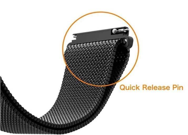 4mobilez Samsung Galaxy bandje Milanese Black 46 mm - magneetsluiting