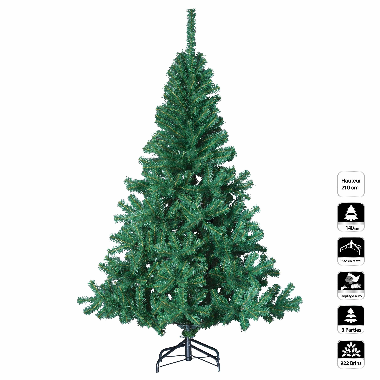 4goodz Elegant kunstkerstboom dennenboom 210 cm hoog en 140 cm breed