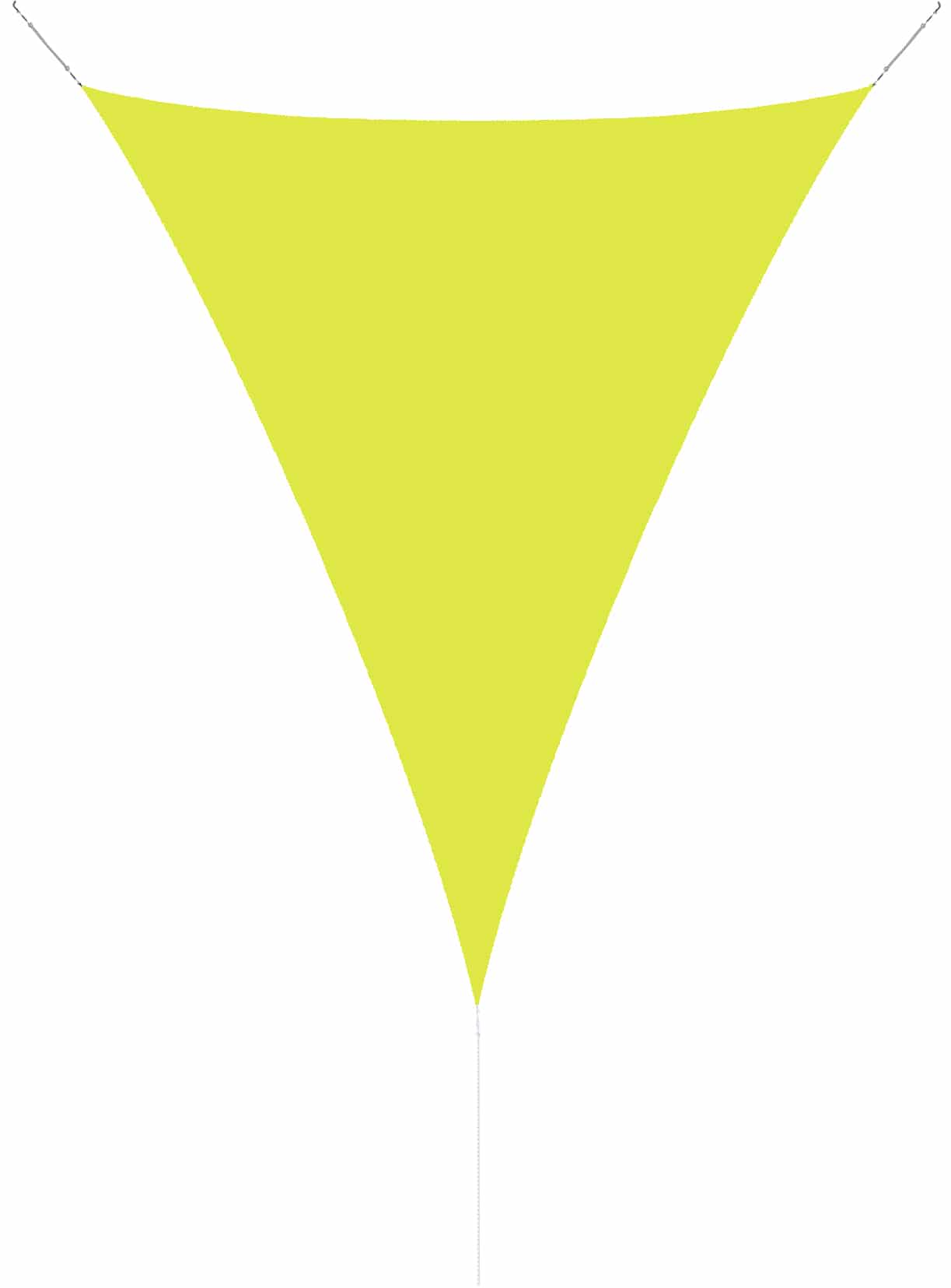 hanSe® Schaduwdoek Driehoek Gelijkbenig Waterdoorlatend 3x3x4,24 m - Lime