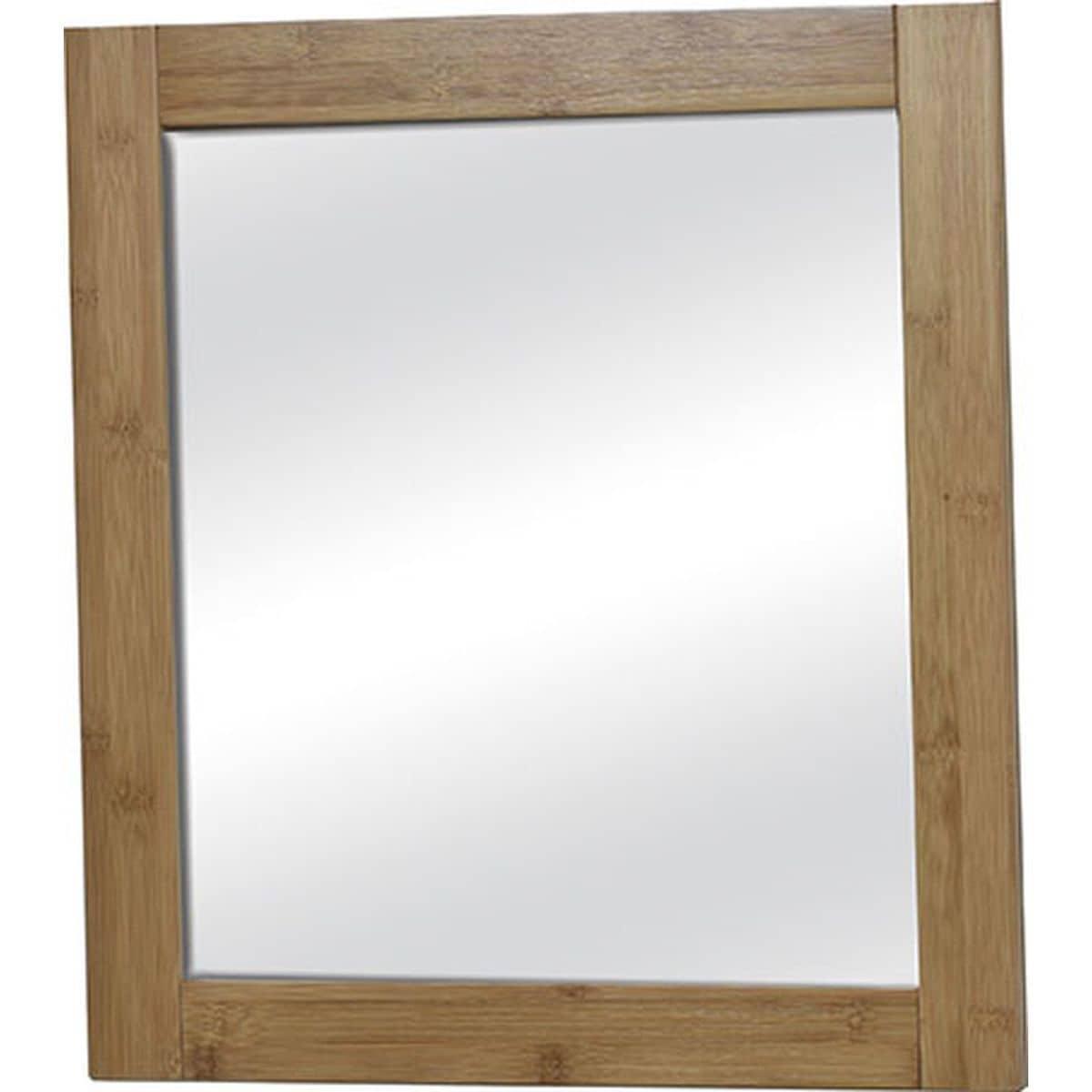 4goodz Bamboe Badkamer Spiegel Vierkant Mahe 48x1,5x51,8 cm - bruin