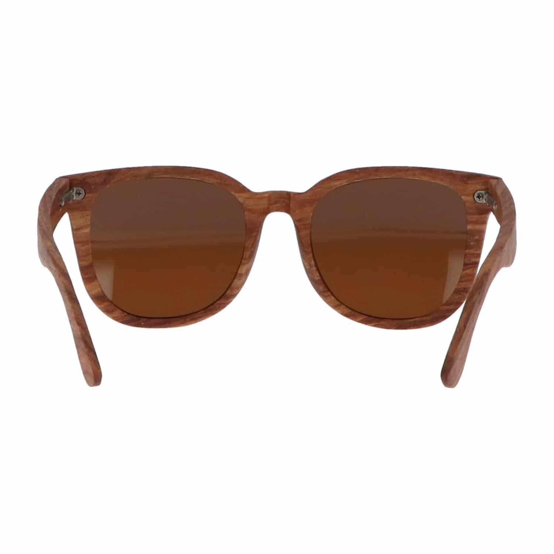 5one® Rome Kosso hout zonnebril met bruine lens - zonnebril voor dames